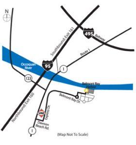 belmont bay harbor directions-map
